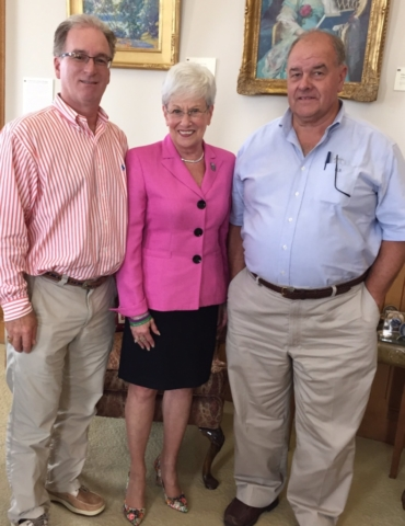 Left to Right: Stephen Tagliatela, Lt. Governor Nancy Wyman, Frank Burns
